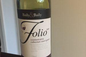Baily & Baily Folio Coonawarra 2009 Cabernet Sauvignon
