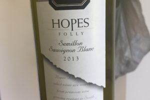 Hopes Folly 2013 – Semillon Sauvignon Blanc